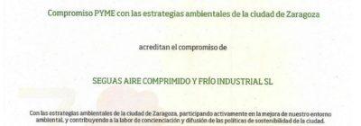Entrega de diplomas Compromiso Zaragoza Pyme Ambiental