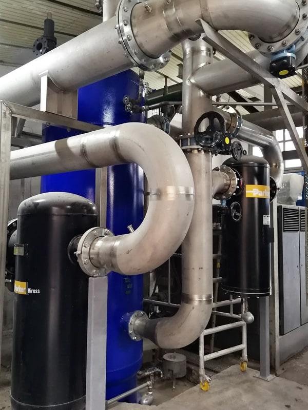 intercambiador secado aire comprimido industrial