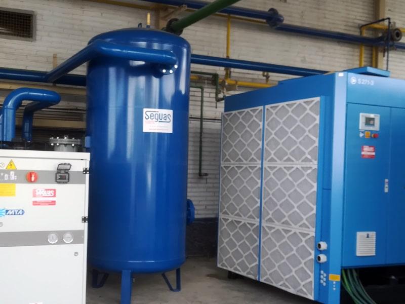 Insalacion de aire comprimido industrial
