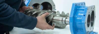 mantenimiento compresores de tornillo. regeneracion cabezal